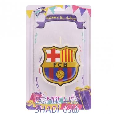 شمع تولد تخت فوتبالی مدل بارسلونا