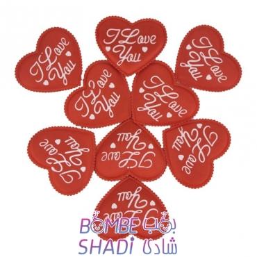 قلب پارچه ای ساتن - ابزار تزیینی کادو کد 102