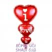 بادکنک فویلی کارتی لاو قلب 3تایی