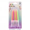 شمع تولد مدل مدادی رنگی کد410
